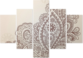 Henna Mehndi Vector : Henna mehndi paisley flower doodle vector design wall mural u2022 pixers