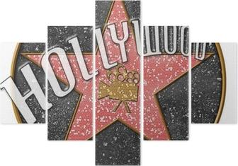 Hollywood Star Pentaptych