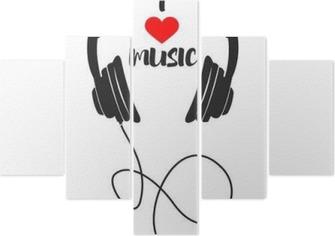 I love music Pentaptych