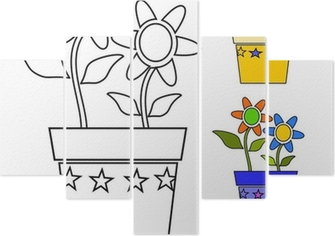 Vaso Di Fiori Da Colorare Wall Mural Pixers We Live To Change