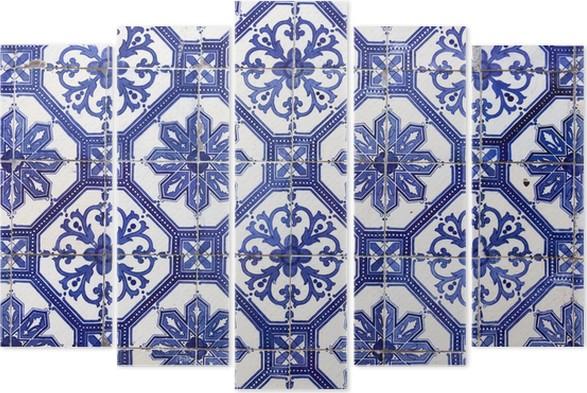 Pentaptychon Traditionelle Portugiesische Fliesen Azulejos - Portugiesische fliesen azulejos