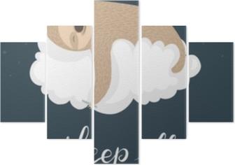 Pentaptych Spící lenoch plakát