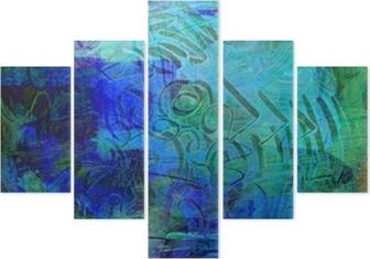 Pentaptyk Acrylfarben auf holzplatte