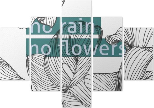 Pentaptyk No rain, no flowers - Motywacyjne