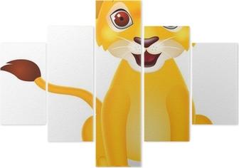 Poster Drôle De Dessin Animé Bébé Lion Pixers Nous Vivons Pour