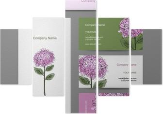 Sticker Jeu De Cartes Visite Avec La Conception Fleur Dhortensia O PixersR