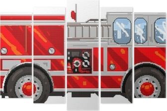 Pixelart Camion De Pompier