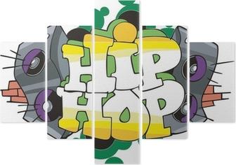 Poster Hip Hop Disegno Graffiti Pixers Viviamo Per Il Cambiamento