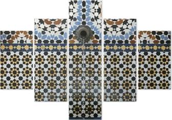 Carta da parati mosaico di piastrelle fontana marocchina in stile