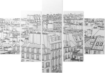 Pentittico Tetti di Parigi