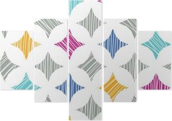 Quadro su tela vector marmo colorate piastrelle texture seamless