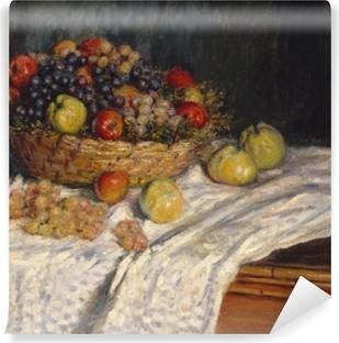 Claude Monet - Viinirypäleet ja omenat Pesunkestävä valokuvatapetti