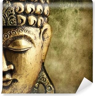 Kultainen buddha Pesunkestävä Valokuvatapetti