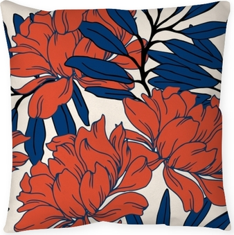 Abstract elegance pattern with floral background. Pillow Cover