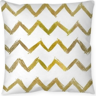abstract seamless golden pattern Pillow Cover