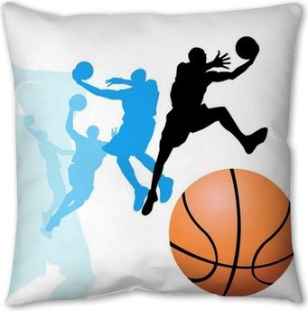Basketball players Pillow Cover
