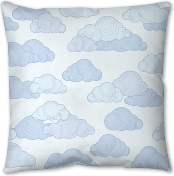 Cloud Doodle Line Pattern Cloudy Sky Seamless Ornamental Background Poster Pixers We Live To Change