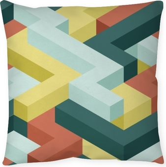 Color shape's seamless pattern Pillow Cover