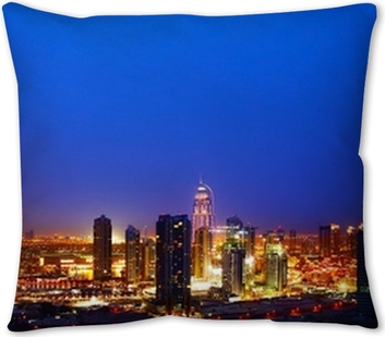 Beautiful Dubai City At Night Throw Pillow Pixers We Live To Change