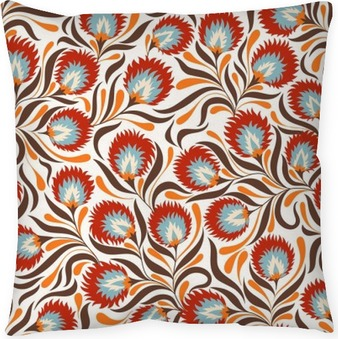 Floral Pattern Pillow Cover