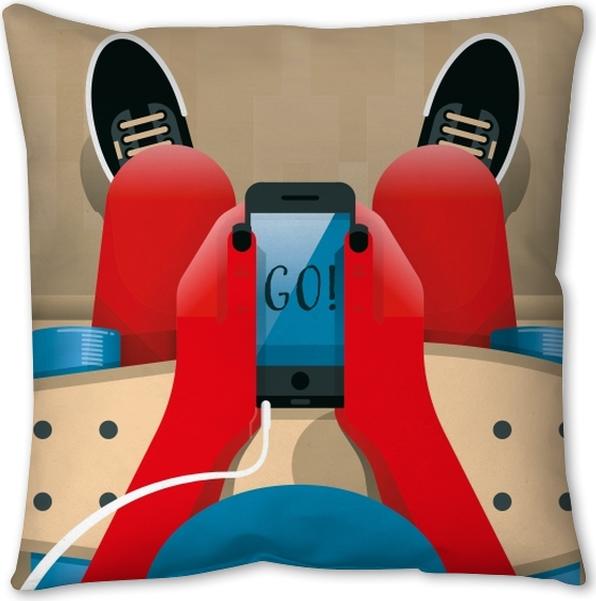 Go! Pillow Cover - Motivations