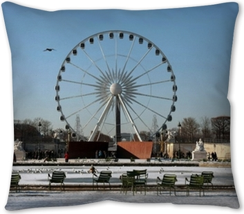 Grande Roue Tuileries Neige Paris Wall Mural Pixers We Live To Change