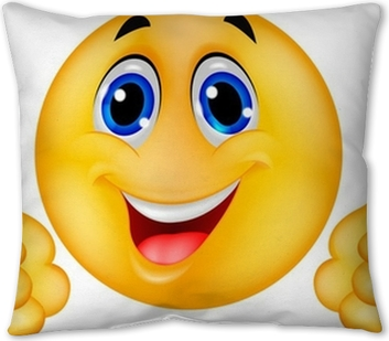 Happy Smiley Emoticon Face Pillow Cover Pixers We Live To Change