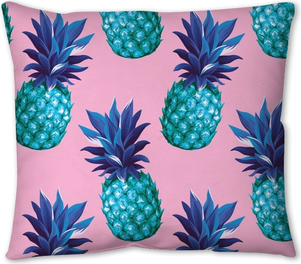 Pineapple seamless pattern Pillow Cover - Prints
