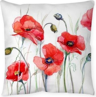 Poppies Decorative Pillows Pixers Interesting Poppy Decorative Pillows