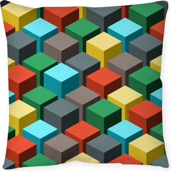 Seamless geometric abstract pattern. Vector illustration. Pillow Cover