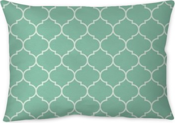 Seamless turquoise wide moroccan pattern vector Pillow Cover