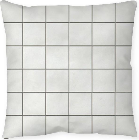 Seamless White Square Tiles Texture Pillow Cover