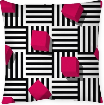 Vector seamless geometric pattern. Pillow Cover