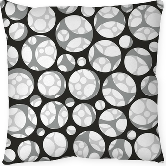 Vector seamless pattern. Modern stylish 3d texture of mesh. Pillow Cover