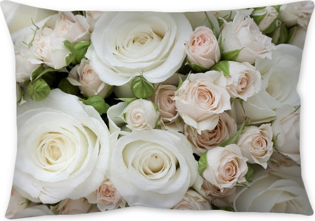 Wedding bouquet of pinkand white roses pillow cover pixers we wedding bouquet of pinkand white roses pillow cover mightylinksfo