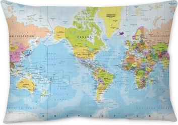 World map america centered and map pointers retro color floor world map america in center bathymetry pillow cover gumiabroncs Images