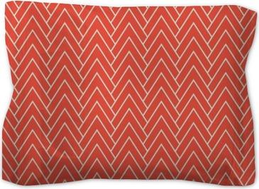 red chevron pattern Pillow Sham