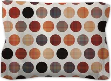 seamless circles background texture Pillow Sham