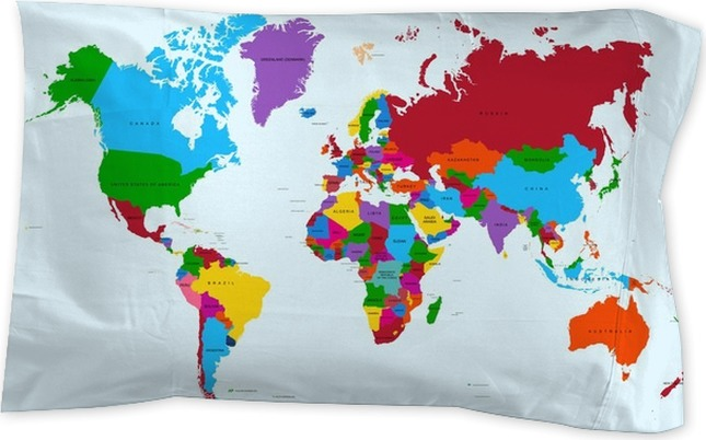 World map colorful countries atlas eps10 vector file pillow sham world map colorful countries atlas eps10 vector file pillow sham gumiabroncs Choice Image