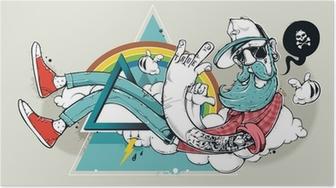 Plakat Abstrakt graffiti hipster