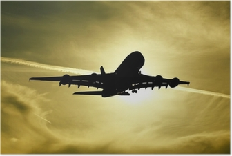 Plakat Airbus A380 Fly