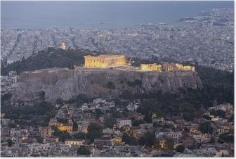 Akropolis og Parthenon, Athen, Grækenland Plakat