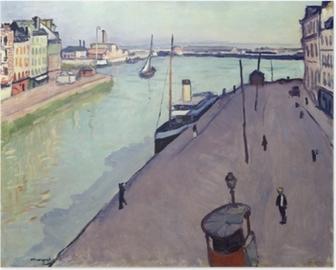 Plakat Albert Marquet - Udsigt over Le Havre havn (Notre Dame kaj)