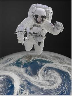 Astronaut i det ydre rum Plakat