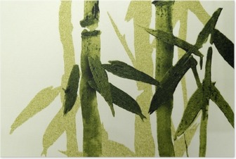 Bambus tekstur Plakat