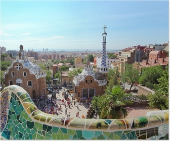 Plakat BARCELONA, SPANIA: Den berømte Park Guell