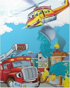 Bilen og flyvemaskinen Plakat