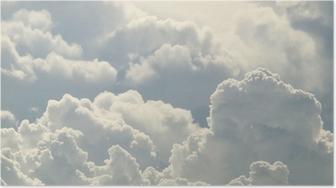 Blå himmel og smukke skyer Plakat