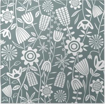 Blumenmuster - Kubem Studio Plakat