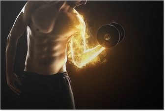 Brændende muskler Plakat